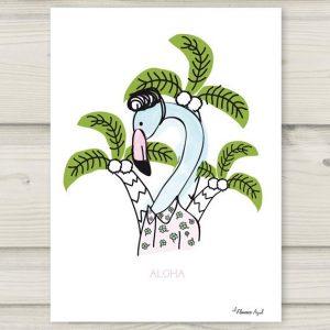 el-flamenco-azul-ilustracion