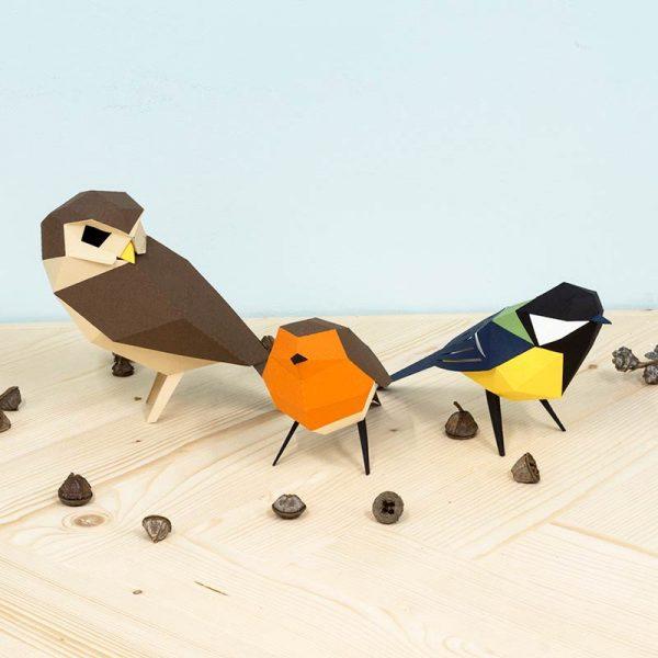 Pájaros Origami