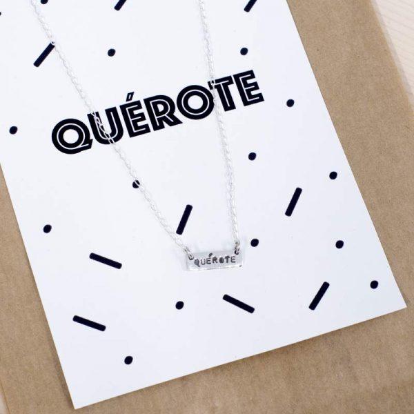Colgante plata palabra gallego