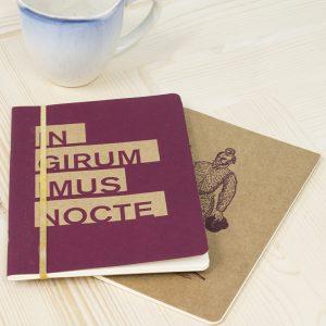 Libreta serigrafiada ilustrada