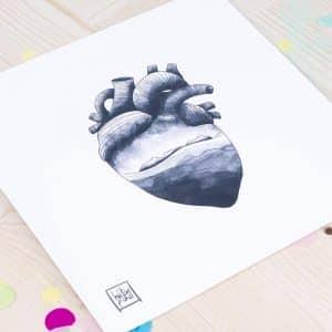Ilustración Corazón Islas Cíes