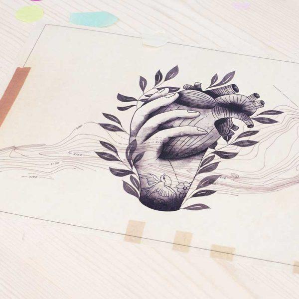 Ilustración Corazón Pichel