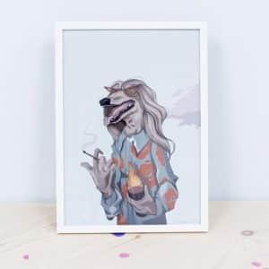 Ilustración Twee Muizen Perro