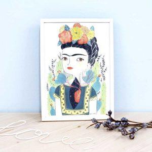 """Ilustración María Hesse """"Frida"""""""