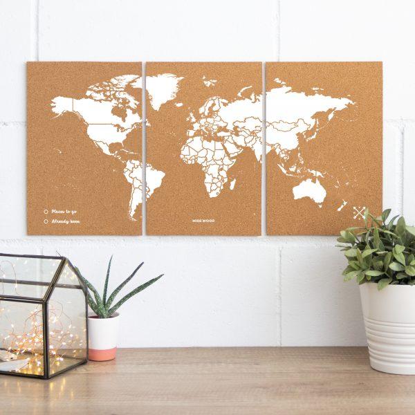 mapamundi corcho